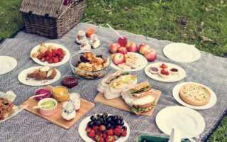 Что можно взять с собой на пикник из еды список
