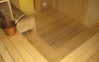 Чем обработать полы в бане в мойке