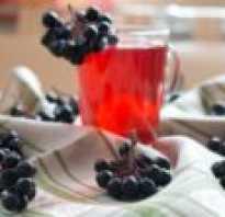 Рецепт компота из черной рябины на зиму