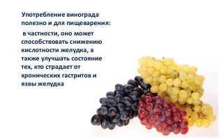 Можно ли есть виноград при похудении вечером