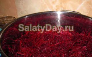 Салат из вареной моркови и свеклы на зиму