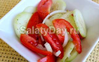 Как приготовить салаты без огурцов и помидоров