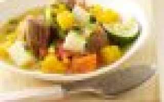 Рагу из свинины с овощами в мультиварке