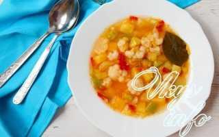 Суп овощной с цветной капустой и кабачком