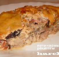 Свинина с кабачками и баклажанами в духовке
