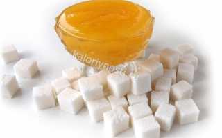 Калорийность сахара и меда на 100 грамм