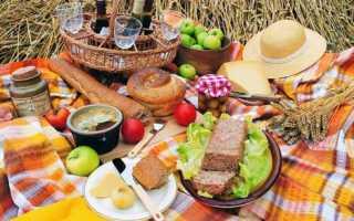 Что брать на пикник из еды список