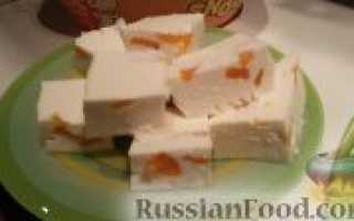 Десерт из творога с желатином и сгущенкой