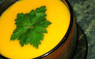 Крем суп из цветной капусты и тыквы