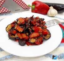 Запечь баклажаны и перец в духовке целиком