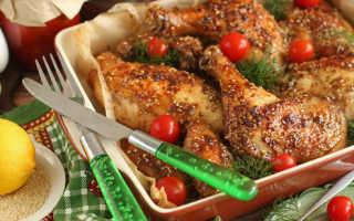 Сколько запекать курицу в духовке в пакете