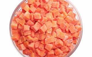 Можно ли заморозить морковку