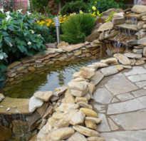 Как положить на землю природный камень