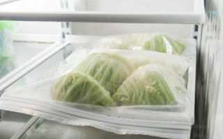 Можно ли заморозить капусту нашинкованную капусту