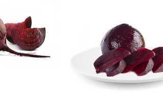 Сколько калорий в свекле вареной с чесноком