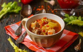 Рецепт суп с чечевицей и говядиной рецепт