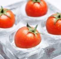 Можно ли замораживать томаты на зиму