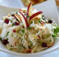 Салат из капусты с яблоком на зиму