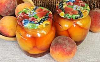 Как консервировать персики половинками